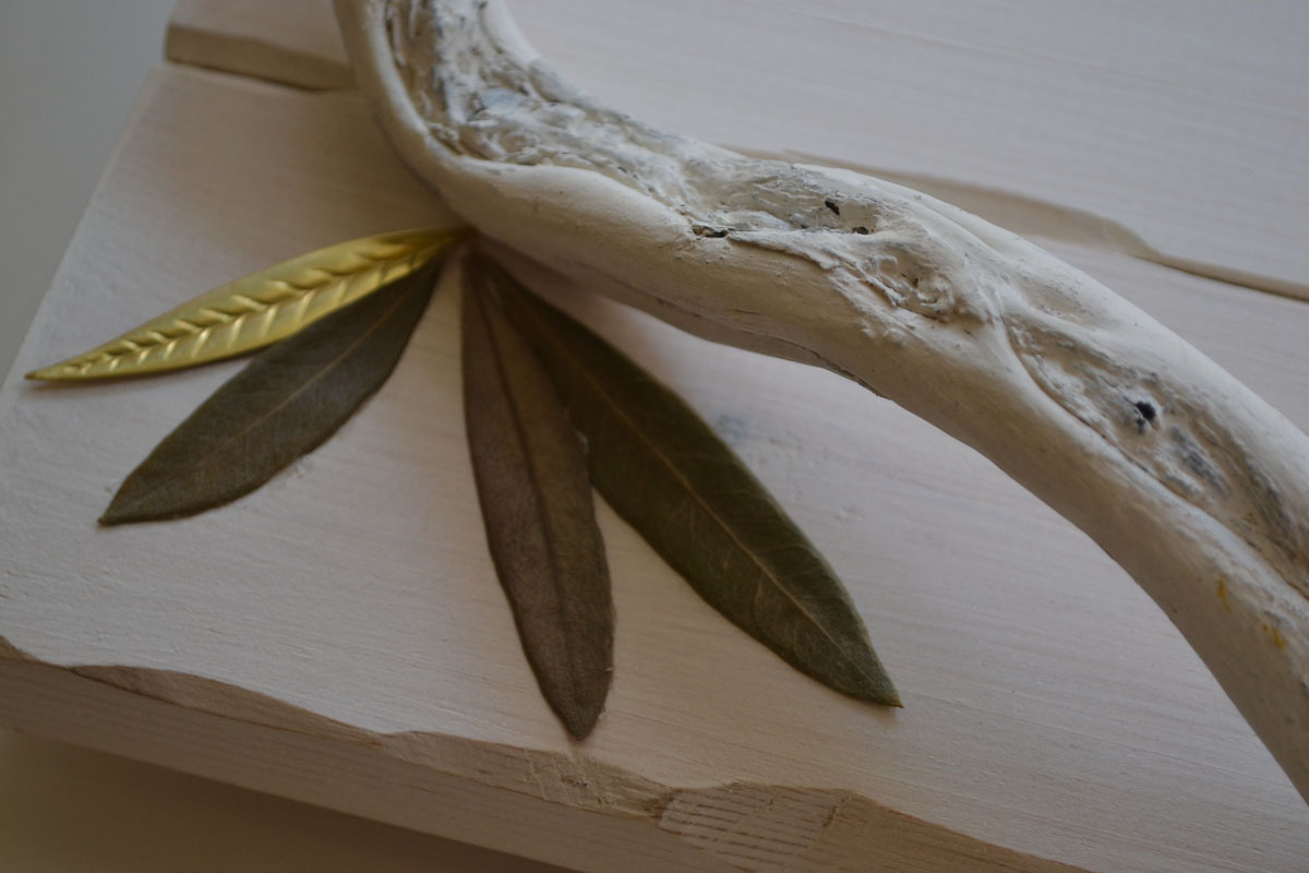 Wooden Handmade Tray Decorated with Driftwood Handles